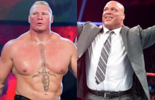 Brock Lesnar and Kurt Angle have competed with one another on several occasions in the past