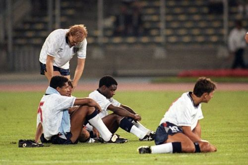 Soccer - FIFA World Cup Italia 1990 - Semi Final - West Germany v England - Stadio Delle Alpi