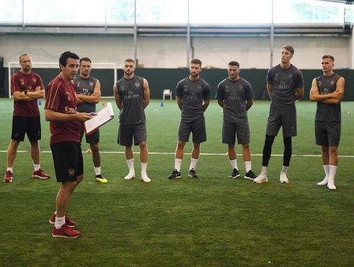 Arsenal Players Pre-Season Training Session