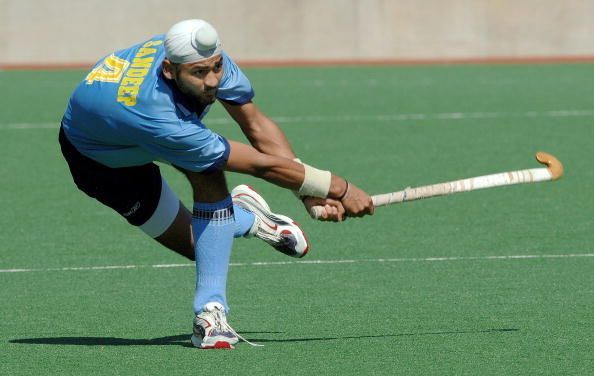 Sandeep Singh of India drives the ball f