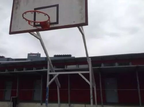 If you can reach it, the rim itself can be used. On this basket, there's a crossbar just above 6 feet. Note the rail in the background. Perfect for some inverted rows!Enter caption