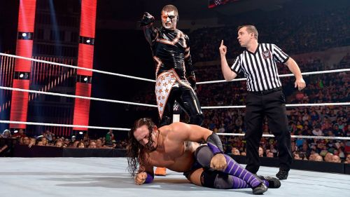 Cody Rhodes (as Stardust) competing against Neville in WWE