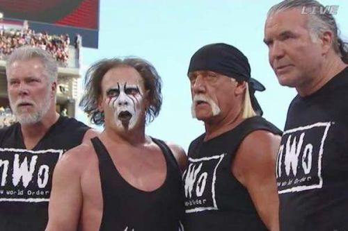 Sting with the nWo at WrestleMania 31