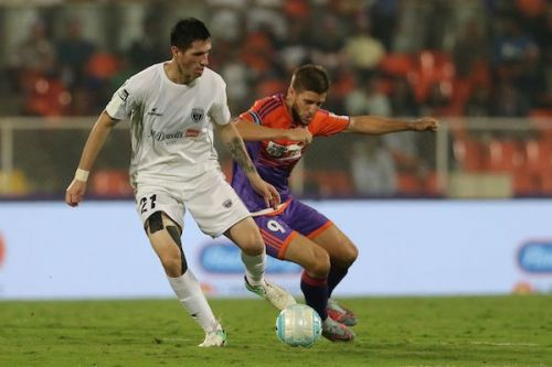 Martin Diaz in action for NorthEast United FC