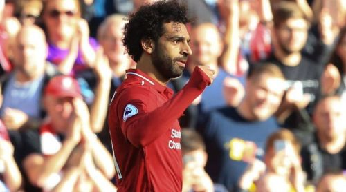 Salah on target for the second home game of the season