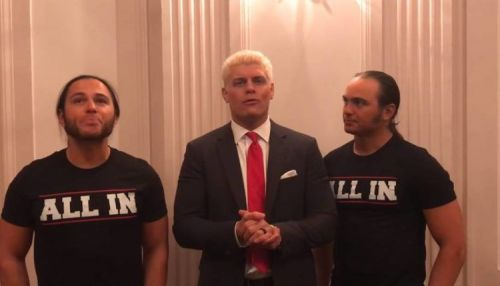 Cody Rhodes with The Young Bucks