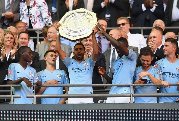 Manchester City lift the FA Community Shield after a convincing win over Chelsea