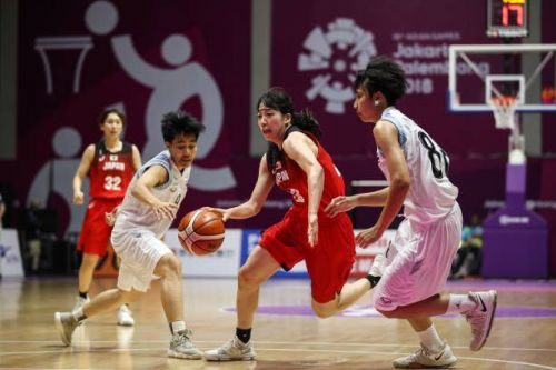 Enter captionfrom China vs Philippines Basketball on Day 7 of Asian Games 2018