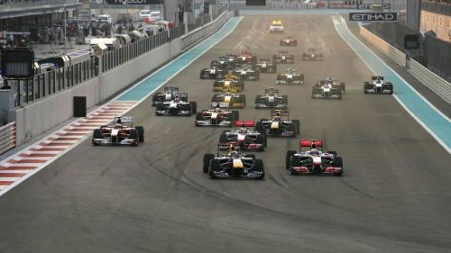 The 4 way battle in the 2014 Abu Dhabi GP