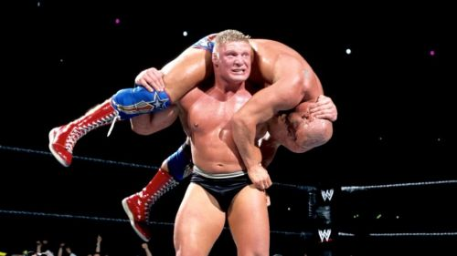 Brock Lesnar and Kurt Angle have history in WWE