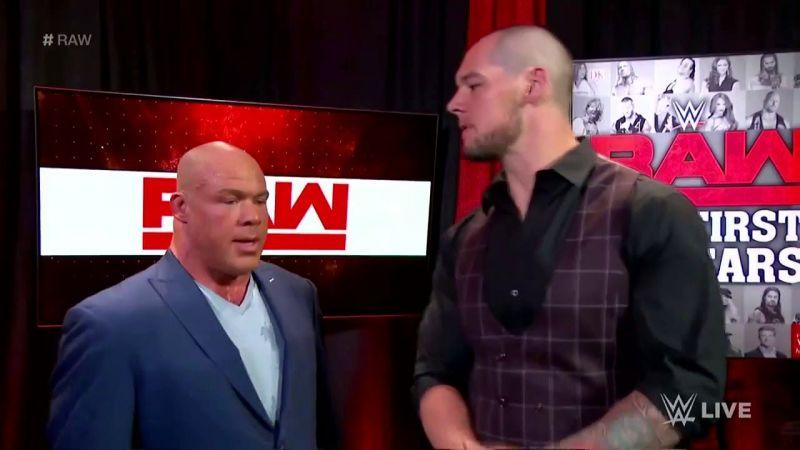 Baron Corbin vs. Kurt Angle for the control of Raw?