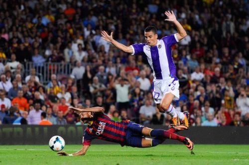 Carlos Pena in action against FC Barcelona (credits: Zimbio)