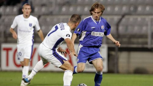 Luka Modric playing for Dinamo Zagreb