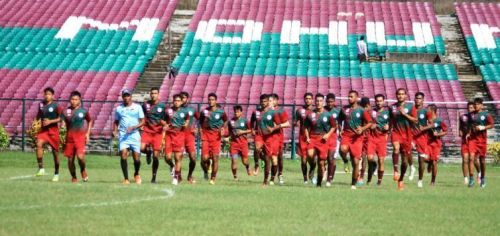 Mohun Bagan players during a training session