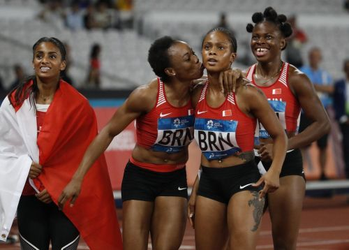 Bahrain 4 x 100m relay Gold medalist (Image Courtesy: Xinhua Sports)