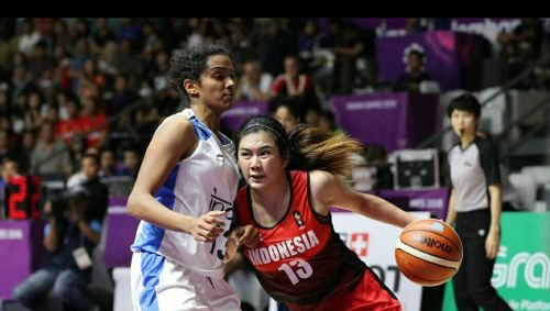 Action from Thailand and Mongolia Basketball at the Asian Games 2018 on Day 9