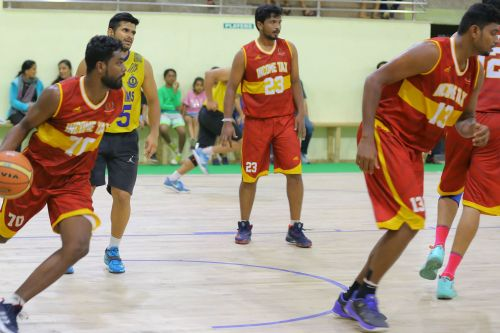 G Sivabalan of Income Tax Chennai going in for a layup