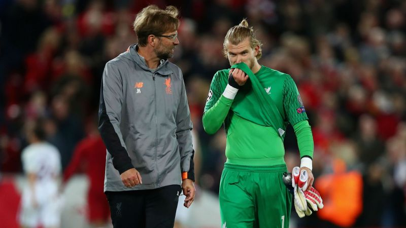 Jurgen Klopp and Loris Karius - cropped