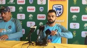 Press conference during South Africa series