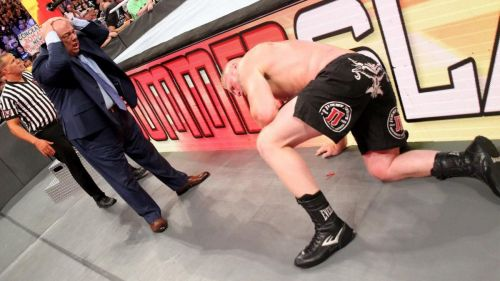 Whom will Heyman align himself with after Lesnar?
