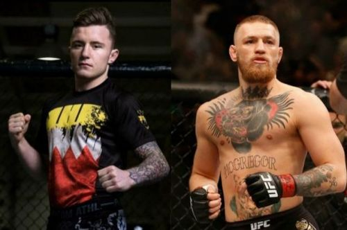 James Gallagher (left) and Conor McGregor (right)