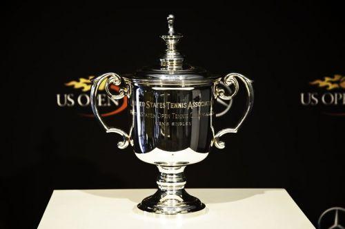 Image result for us open trophy tennis