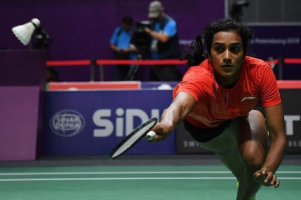PV Sindhu in action at 2018 Asiad