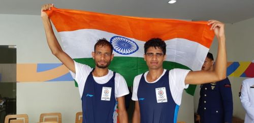 Rohit Kumar and Bhagwan Singh for winning the Bronze in the Men's Lightweight Doubles Sculls