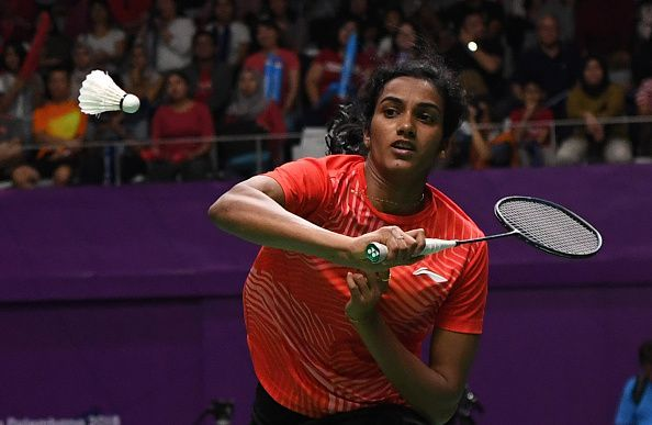 PV Sindhu in action at 2018 Asian Games