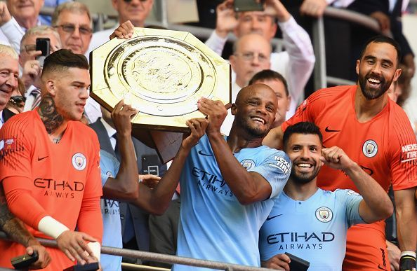 Image result for Manchester City Beat Chelsea 2 - 0 To Win Community Shield