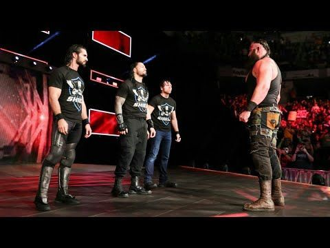 Braun Strowman face-to-face with The Shield