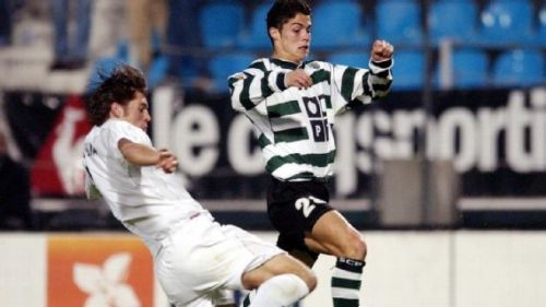 Cristiano Ronaldo playing for Sporting Lisbon in 2002Getty Images