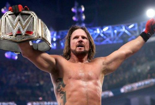 AJ Styles- the current WWE World Champion!