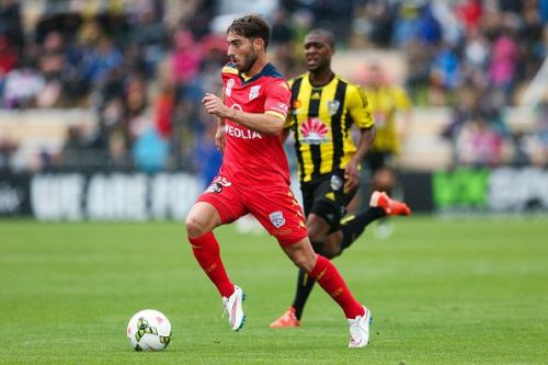 Miguel Palanca in action for Adelaide United