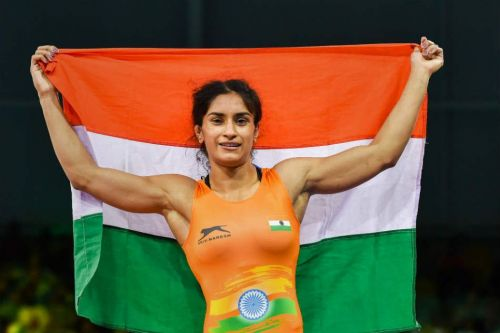 Vinesh Phogat after winning historic gold medal