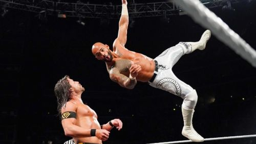 Ricochet thrilled the fans with a brilliant aerial display