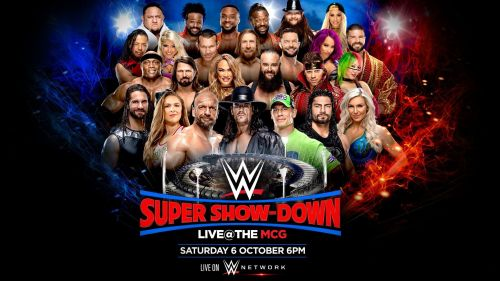 WWE Super Show-Down will take place live from the MCG in Melbourne, Australia on October 6