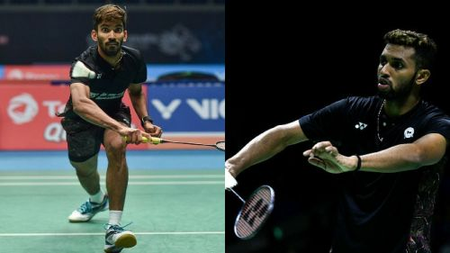 Kidambi Srikanth and HS Prannoy in action