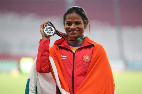 Dutee Chand with her Silver