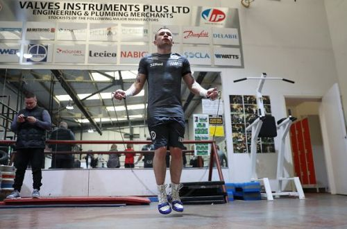 Carl Frampton and Martin Murray Media Work Outs