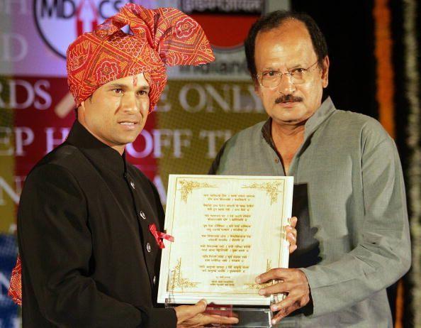 Wadekar with Sachin Tendulkar in 2006