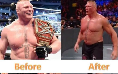 Brock Lesnar seems to have lost a ton of weight ahead of his UFC fight with Daniel Cormier
