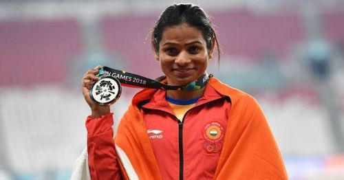 Dutee Chand won silver in Women's 200m race event
