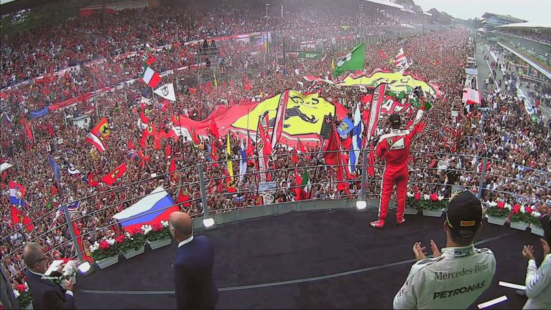 The operatic podium at Monza