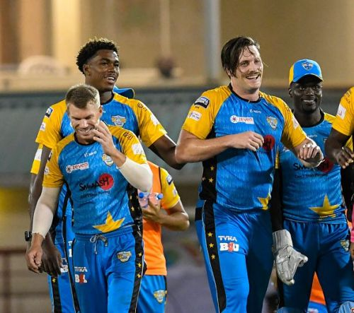 St Lucia Stars suffered humiliating 7 wicket defeat against St Kitts and Nevis Patriots