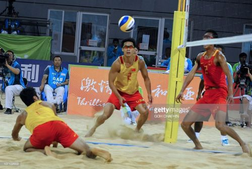 The Chinese for the first time failing to win a medal - Gao & Li of China