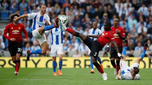 Glen Murray was on target against Manchester United on Sunday at Amex stadium