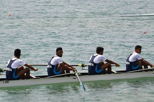 Indian Men's Quadruple Sculls team
