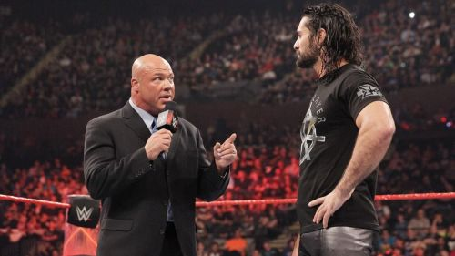 Kurt Angle was replaced as the General Manager on Monday Night Raw