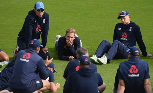 England players during practice